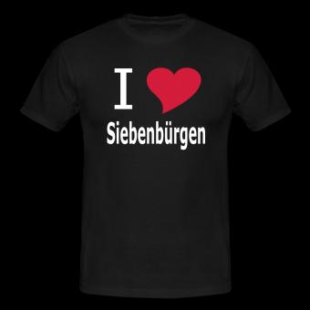 """T-Shirt """"I love Siebenbürgen"""" schwarz"""
