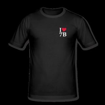"T-Shirt ""I love 7B"" schwarz 2r"