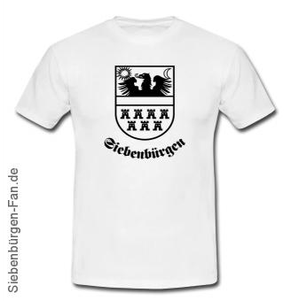"""T-Shirt Siebenbürgenwappen """"Siebenbürgen"""" weiß"""