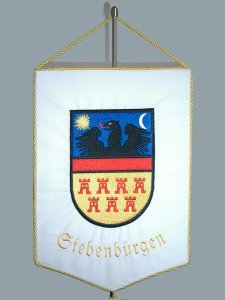 "Wimpel ""Siebenbürgen"" gestickt"