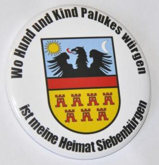 """Button """"Wo Hund und Kind Palukes würgen"""""""