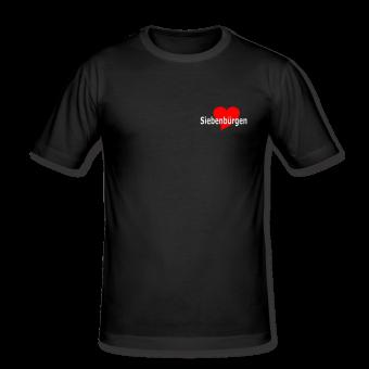 T-Shirt Herz Siebenbürgen schwarz