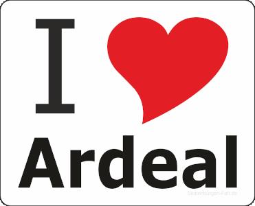 """Aufkleber """"I love Ardeal"""""""