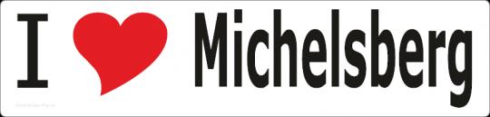 """Aufkleber """"I love Michelsberg"""" lang"""