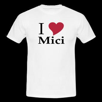 """T-Shirt """"I love Mici"""" Subli"""