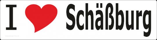 "Aufkleber ""I love Schäßburg"" lang"