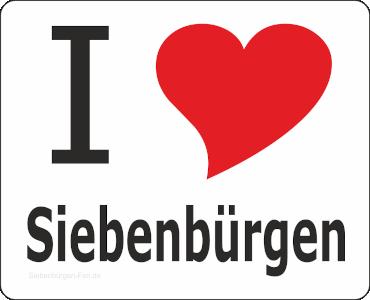 """Aufkleber """"I love Siebenbürgen"""""""