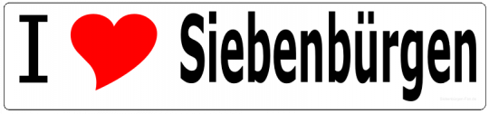 "Aufkleber ""I love Siebenbürgen"" lang"