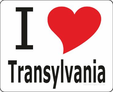 "Aufkleber ""I love Transylvania"""
