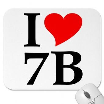 """Mauspad """"I love 7B"""""""