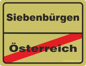 Aufkleber Ortsschild Österreich-Siebenbürgen