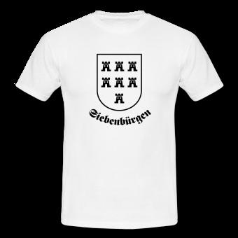 """T-Shirt Sachsenwappen """"Siebenbürgen"""" weiß"""