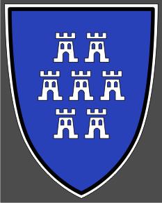 Aufkleber Siebenbürger Sachsen historisches Wappen