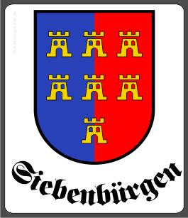 """Aufkleber Siebenbürger Sachsen """"Siebenbürgen"""""""