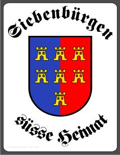 "Aufkleber Siebenbürger Sachsen ""Süße Heimat"""