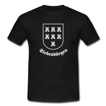"""T-Shirt Sachsenwappen """"Siebenbürgen"""" schwarz"""