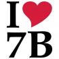 """Tasse """"I love 7B"""""""